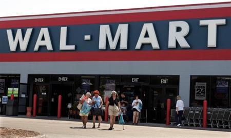 A Wal-Mart store is seen in this undated file photo. Shoppers will be able to review and rate the merchandise sold on Wal-Mart Stores Inc's <WMT.N> Web site beginning on Thursday, as the retailer works to expand its online capabilities. REUTERS/Handout
