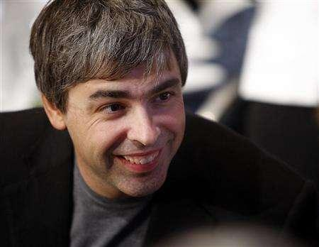 Google co-founder Larry Page speaks with people at his lunch table during the Clinton Global Initiative in New York September 27, 2007. According to the San Francisco Chronicle, Page will marry his girlfriend, Lucinda Southworth, at an undisclosed location during the weekend of December 8. REUTERS/Chip East