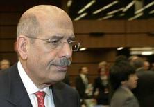 <p>Глава МАГАТЭ Мохаммед аль-Барадей в Вене 22 ноября 2007 года. Доклад американских спецслужб о ядерной программе Ирана должен помочь Тегерану более активно сотрудничать к наблюдателями Международного агентства по атомной энергии (МАГАТЭ), сообщил глава МАГАТЭ Мохаммед аль-Барадей во вторник. (REUTERS/Herwig Prammer)</p>