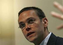 <p>James Murdoch, figlio di Rupert Murdoch e amministratore delegato di Sky. REUTERS/Dylan Martinez</p>