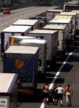 <p>Immagine d'archivio di camion in coda. VP/ME</p>