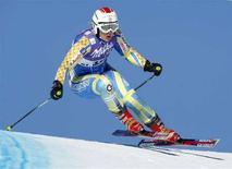 <p>La svedese Anja Paerson sulla neve di Saint-Moritz, 14 dicembre 2007. REUTERS/Denis Balibouse</p>
