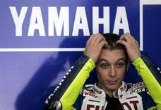 <p>Il pilota italiano della Yamaha Valentino Rossi. REUTERS/Bazuki Muhammad (MALAYSIA)</p>