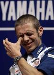 <p>ImmaginE d'archivio del motociclista della Yamaha Valentino Rossi. REUTERS</p>