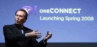 <p>Il vice presidente esecutivo della divisione Connected Life Division di Yahoo, Marco Boerries. REUTERS/Albert Gea (SPAIN)</p>