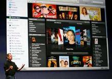 <p>Steve Jobs parla di iTunes. REUTERS/Dino Vournas (UNITED STATES)</p>