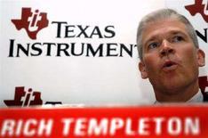 <p>Il presidente e AD di Texas Instruments Richard Templeton. REUTERS/Jagadeesh Nv</p>