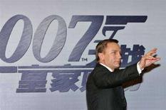 """<p>Daniel Craig alla prima di """"Casino Royale"""" a Shanghai il 30 gennaio 2007. REUTERS/Aly Song (CHINA)</p>"""