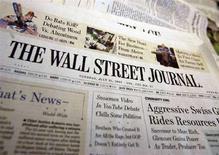 <p>Una copia del Wall Street Journal. REUTERS/Shannon Stapleton (UNITED STATES)</p>