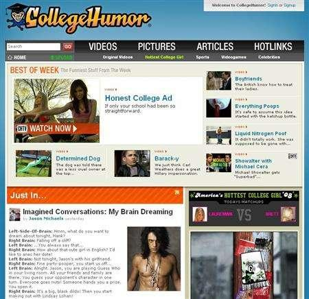 CollegeHumor site finds ad niche in sponsorships | Reuters com