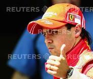 <p>Il pilota della squadra di Formula 1 della Ferrari Felipe Massa</p>