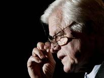 <p>Ted Kennedy in una foto d'archivio. REUTERS/Jim Young</p>