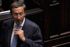 <p>Il presidente della Camera Gianfranco Fini in una foto d'archivio. REUTERS/Alessandro Bianchi (ITALY)</p>