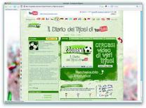 <p>Schermata del nuovo videoblog 'Diario dei Tifosi', disponibile su www.youtube.it/23giorni dal 7 al 29 giugno 2008.</p>