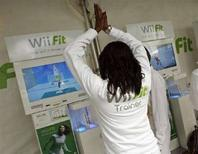 <p>Il gioco di yoga interattvo di Wii Fit REUTERS/Shannon Stapleton</p>