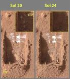 <p>Il ghiaccio fotografato su Marte REUTERS/ NASA/JPL-Caltech/University of Arizona/Texas A&M University/Handout</p>