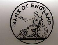 <p>Il logo della Bank of England. REUTERS/Luke MacGregor (BRITAIN)</p>