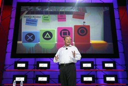 President and Chief Executive Officer of Sony Computer Entertainment America Jack Tretton speaks at the Sony Computer Entertainment America news conference at the 2008 E3 Media & Business Summit in Los Angeles July 15, 2008. REUTERS/Mario Anzuoni