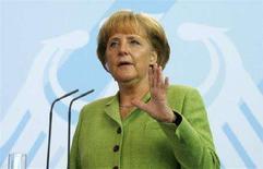 <p>Il cancelliere tedesco Angela Merkel. REUTERS/Johannes Eisele (GERMANY)</p>