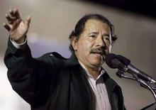 <p>Президент Никарагуа Даниэль Ортега выступает в столице страны Манагуа 2 сентября 2008 года. Никарагуа провозгласила Абхазию и Южную Осетию суверенными государствами, став, таким образом, первой страной после России, признавшей новый статус отколовшихся от Грузии автономий. REUTER/Oswaldo Rivas</p>