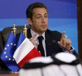 <p>Президент Франции Николя Саркози выступает не пресс-конференции. Фотография сделана 4 сентября 2008 года. Президент Франции Николя Саркози предупредил Иран о том, что дальнейшие разработки ядерного оружия являются рискованными, поскольку Израиль однажды может нанести удар по объектам ядерной программы Исламской Республики. REUTERS/ Jamal Saidi</p>