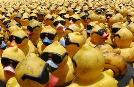 Can rubber ducks help track a melting glacier?