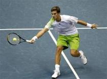 <p>Marko Djokovic, irmão mais novo do número 3 do mundo Novak Djokovic, em partida contra finlandês Nieminen em Bangcoc. REUTERS/Chaiwat Subprasom</p>
