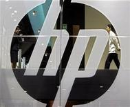 <p>Foto de archivo del logo del fabricante de computadoras Hewlett-Packard Co en Hong Kong, China, 12 mayo 2006. REUTERS/Paul Yeung</p>