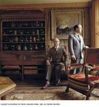<p>Artists Gilbert & George are seen here in their London home in this handout picture released to Reuters October 3, 2008. For nearly 40 years artists Gilbert & George have tackled issues ranging from race to AIDS--all while working in the same East London studio, living together, wearing virtually identical suits and dining nightly at the same restaurant. The pair's first retrospective in 20 years--a collection of more than 80 works--opened on Friday at The Brooklyn Museum, wrapping up an international tour that began some 18 months ago at London's Tate Modern. REUTERS/Handout</p>