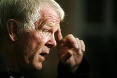 <p>Actor Nick Nolte answers questions as he arrives to attend the opening night premiere of Chicago 10 to begin the Sundance Film Festival at the Eccles Theatre in Park City, Utah January 18, 2007. REUTERS/Lucas Jackson</p>