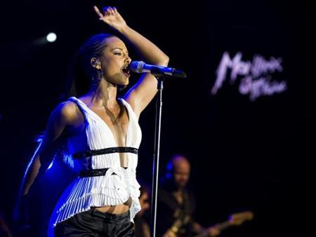 Singer Alicia Keys performs at the 42nd Montreux Jazz Festival in Montreux, July 17, 2008. REUTERS/Valentin Flauraud