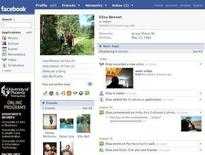<p>A sample Facebook profile is seen in an undated handout image. REUTERS/Facebook/Handout</p>