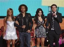 "<p>Cast members of the ""High School Musical"" movies, (from L-R) Ashley Tisdale, Corbin Bleu, Vanessa Hudgens and Zac Efron, present an award at the 2008 MTV Video Music Awards in Los Angeles September 7, 2008. REUTERS/Mario Anzuoni</p>"