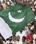 <p>La bandiera nazionale del Pakistan. REUTERS/Mohsin Raza (PAKISTAN)</p>