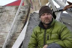 """<p>Les Stroud, host of the TV show """"Survivorman"""", is photographed at his shelter after his seven days of survival at Pond Inlet in the Arctic September 19, 2008. REUTERS/Laura Bombier/Laura Bombier Photography/Handout</p>"""