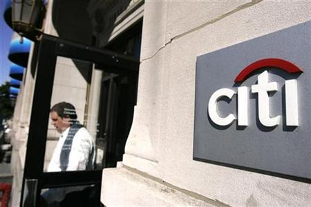 A man walks out of a Citigroup banking branch in New York September 29, 2008. REUTERS/Shannon Stapleton