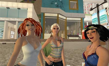 Virtual alter egos, or avatars, in an image courtesy of Linden Lab. REUTERS/Handout