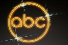 <p>The logo for the ABC television network is shown on a video screen at the Disney ABC Television Group summer press tour in Beverly Hills, California July 16, 2008. REUTERS/Fred Prouser</p>