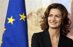 <p>Il ministro dell'Istruzione Maria Stella Gelmini. REUTERS/Alessandro Bianchi</p>