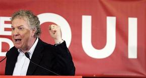 <p>Quebec Premier and Liberal leader Jean Charest speaks during a rally in Shawinigan, Quebec, December 7, 2008. Quebecers will go to the polls on December 8. REUTERS/Christinne Muschi</p>