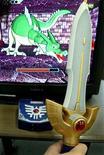 <p>Una presentazione del videogioco Dragon Quest a Tokyo nel 2003. REUTERS/Eriko Sugita</p>