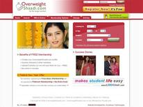 <p>The homepage of www.overweightshaadi.com. An Indian website promises to deliver king-size romance to millions of overweight men and women in the country, where the plus-sized are often hard-pressed to find a life partner. REUTERS/www.overweightshaadi.com</p>