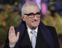 <p>Martin Scorsese waves at the 58th Berlinale International Film Festival in Berlin February 7, 2008. REUTERS/Hannibal Hanschke</p>