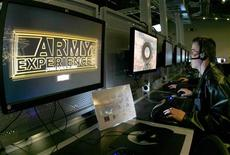"""<p>Peter Reale plays a round of """"Call of Duty 4"""" in the computer area of the U.S. Army Experience center at the Franklin Mills mall in Philadelphia, Pennsylvania, January 7, 2009. REUTERS/Tim Shaffer</p>"""
