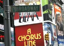 <p>A Broadway street sign hangs in New York's Time's Square, November 29, 2007. REUTERS/Brendan McDermid</p>