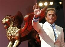 "<p>Italian fashion designer Valentino Garavani waves as he arrives for the premiere of the movie ""Valentino: The Last Emperor"" by U.S. director Matt Tyrnauer in Venice August 28, 2008. REUTERS/Denis Balibouse</p>"
