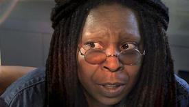 """<p>Whoopi Goldberg speaks during a scene from FEARnet's sci-fi mini-series """"Stream"""" in this undated publicity handout. Whoopi Goldberg is returning from a brief retirement as an actress to boldly go to where few stars have gone before -- online science fiction. Two decades after first appearing on """"Star Trek: The Next Generation,"""" the Oscar-winning actress is producing and starring in a new sci-fi series called """"Stream"""" that premieres on January 15, 2009 on the horror website and video-on-demand network FEARnet. REUTERS/FEARnet/Handout</p>"""