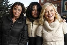 """<p>Actresses (L-R) Rachel Dratch, Parker Posey, and Amy Poehler, who co-star in the film """"Spring Breakdown"""", pose for a portrait at the 2009 Sundance Film Festival in Park City, Utah, January 16, 2009. REUTERS/Danny Moloshok</p>"""