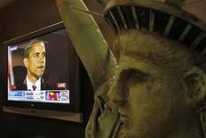 <p>Cina, siti Web tagliano i riferimenti di Obama al comunismo. REUTERS/Bobby Yip</p>