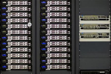 A computer server is seen in a file photo. REUTERS/Valentin Flauraud